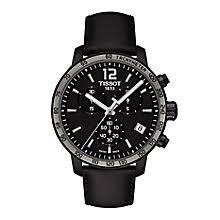 tissot watches quality swiss watches ernest jones watches tissot men s black leather strap watch product number 2175592