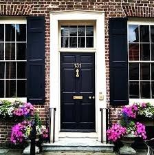 black door on red brick our favorite front doors more house colors for with shutters