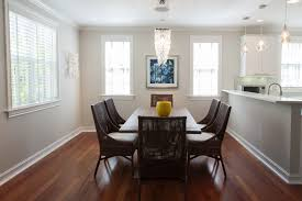 light gray dining room