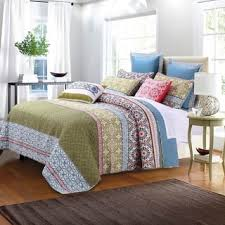 Size Queen Quilts & Coverlets For Less | Overstock.com & Greenland Home Fashions Shangri-La Oversized Cotton 3-piece Quilt Set Adamdwight.com