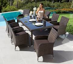 Gartenmöbelset Sydney 17 Tlg 8 Sessel Tisch Polyrattan Inkl