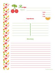 Free Recipe Card Templates For Word Free Blank Business Card Template Word Cool Cherry Orange Recipe 13