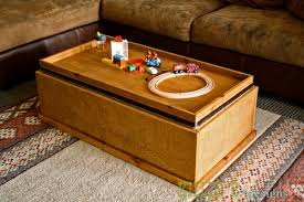 Flip Top Storage Coffee Table Play Surface