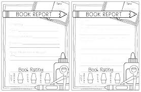 Free Book Report Template Forms 4th Grade Eciinc Co