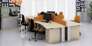 Office:Curved Desks With Drawers For Cool Office Workspace Table Office Desk  With Yellow Partition