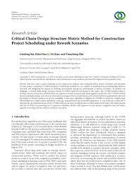 Design Structure Matrix Methods Pdf Critical Chain Design Structure Matrix Method For