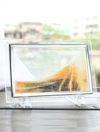 3d hourglass sand moving scene frame picture ornament craft