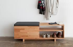 ... Bench Design, Modern Storage Bench Seat Modern Entryway Bench With Storage  Storage Bench Wood Shoes ...