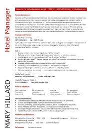 Resume For Hospitality Simple Hotel Manager CV Template Job Description CV Example Resume