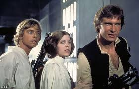 carrie fisher leia force awakens. Simple Force Carrie Fisher With Harrison Ford And Mark Hamill In The Original Star Wars To Leia Force Awakens T