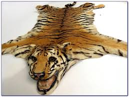 good tiger skin rug for large image for compact faux tiger skin rug faux tiger skin