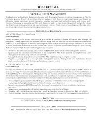 Resume Samples For Hospitality Industry Endearing Resume Samples