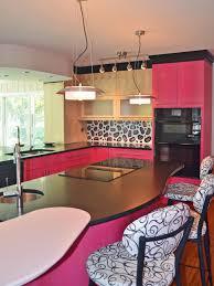 colorful kitchen design. Kitchen-design-pink-leopard-print Colorful Kitchen Design