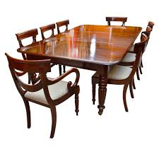 antique regency dining table with 8 vine chairs at 1stdibs antique dining table and chairs brisbane