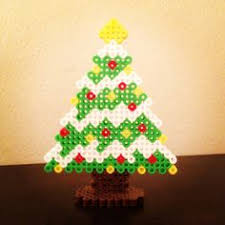 Strijkkralen Kerstboom  Kerst  Pinterest  Perler Beads Perler Beads Christmas Tree