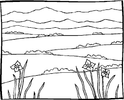 Landschap Kleurplaat
