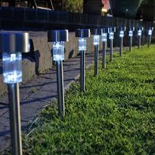 Solar Led Garden Lights Ebay Details About 10pc Led Solar Power Stainess Steel Garden