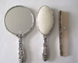 <b>Vintage</b> Antique Collectible Silver <b>Plated Brush</b> | <b>Vintage brush</b> set ...