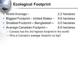 geography of ecological footprint ppt  4 ecological footprint