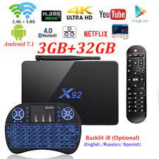 Android 7.1 TV Box X92 2GB/3GB 16GB/32GB Octa Core Amlogic Wifi 4K