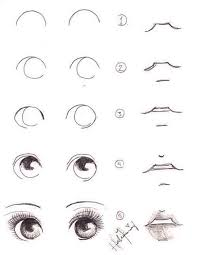 how to draw eyes and lips