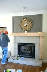 how to build a fireplace mantle build fireplace mantel over stone