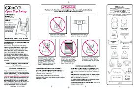 graco 1444 user manual 8 pages also for open top swing 1435 open top swing 1434 open top swing 1444