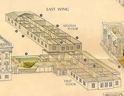 west wing office space layout circa 1990. East Wing Oblique West Office Space Layout Circa 1990 N