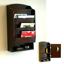 office mail organizers various wall mounted wood mail organizer with shelf and storage space addition behind