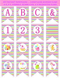 Blank Birthday Banner Printable Pennant Banner Template Awesome Candy Party