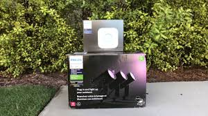 Philips Hue Lighting Youtube Phillips Hue Outdoor Lily Smart Lights Honest Review