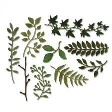 garden greens. Sizzix - Tim Holtz Alterations Collection Thinlits Die Garden Greens