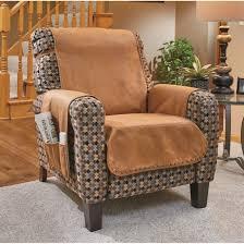 faux leather recliner cover cognac