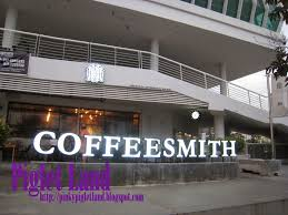 The cafe latte is fantastic, one of the best in penang. Coffee Smith Maritime Piazza Karpal Singh Drive Penang