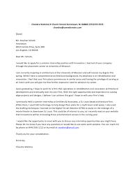 Internship Application Letter Summer Internship Cover Letter Edit Fill Sign Online