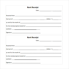 printable rent receipt template free rent receipt template pdf tempo docs