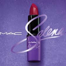 selena s signature brick red lipstick gets majot billing in mac s selena makeup collection
