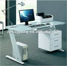 drawers white hanging lacquered cool design black white glass computer desk table home office and with filing cabinet