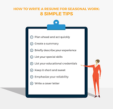 How To Write A Resume For Seasonal Work 8 Tips Livecareer