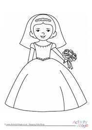 Wedding dress coloring page for bride and groom página de vestido de casamento para colorir bride & groom wedding coloring pages for kids | coloring for kids. Wedding Colouring Pages
