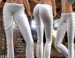 Pants In Second Life Marketplace 2chez Side Laced Leather Pants