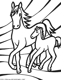 This is one of the cute horse coloring pictures featuring two horses showering affection on each other. Horse Coloring Pages Birthday Printable