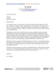 Cover Letter Sampler Internship College Examples Internships