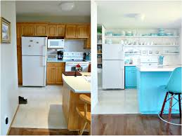 Turquoise Kitchen A Budget Friendly Turquoise Kitchen Makeover Dans Le Lakehouse