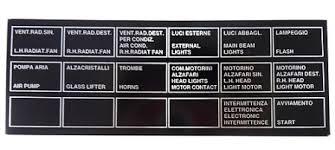 labels plates for ferrari 308 box plate