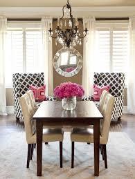 Pink And Brown Bedroom Retro Brown White Pink Traditional Dining Room Kitchens Dining