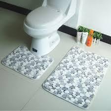 Coral Bathroom Rugs Coral Bathroom Rugs 2pcsset U Shape Coral Fleece Bath Rug Gray