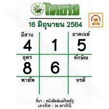 หวยไทยรัฐ 16 6 64 เลขเด็ดหวยเด็ดงวดนี้ ลุ้นสลากกินแบ่งรัฐบาล