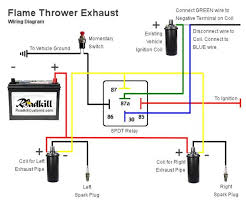 how to build and install exhaust flame throwers roadkill customs flame thrower exhaust wiring diagram