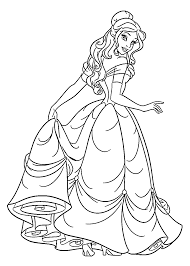 Beauty Princess Coloring Pages For Kids Printable Free Disney